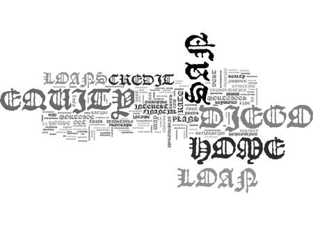 SAN DIEGO HOME EQUITY LOAN TEXT WORD CLOUD CONCEPT Illusztráció