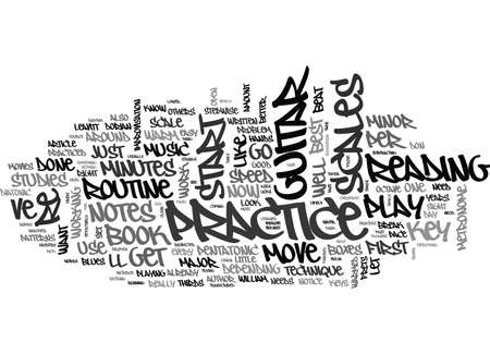 YOUR BEST GUITAR PRACTICE ROUTINE TEXT WORD CLOUD CONCEPT