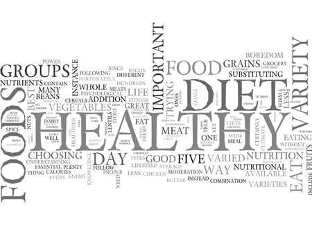 健康的な食事の様々 なテキスト WORD クラウドのコンセプトへの最高の鍵