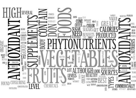 boast: YOUR BODY AND ANTIOXIDANT FOODS TEXT WORD CLOUD CONCEPT
