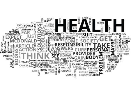 YOUR HEALTH IS YOUR YOURS TEXT WORD CLOUD CONCEPT Çizim