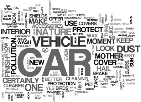 YOU CAN PROTECT YOUR CAR FROM MOTHER NATURE TEXT WORD CLOUD CONCEPT Ilustrace