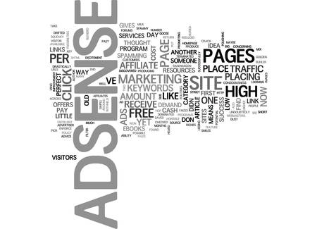 YOU WON T MAKE DOLLARS IF YOU DON T USE AD SENSE TEXT WORD CLOUD CONCEPT