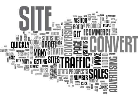 YOU WORK HARD FOR TRAFFIC GET IT TO CONVERT TEXT WORD CLOUD CONCEPT Imagens - 79580689