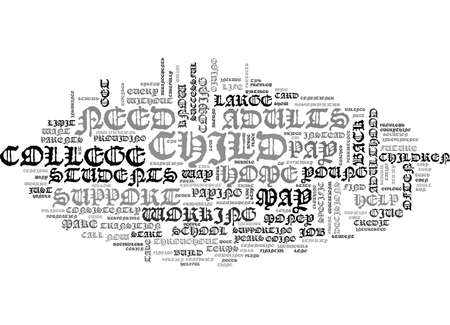 YOUNG ADULTS TEXT WORD CLOUD CONCEPT