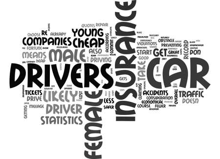 YOUNG FEMALE CHEAP CAR INSURANCE TEXT WORD CLOUD CONCEPT