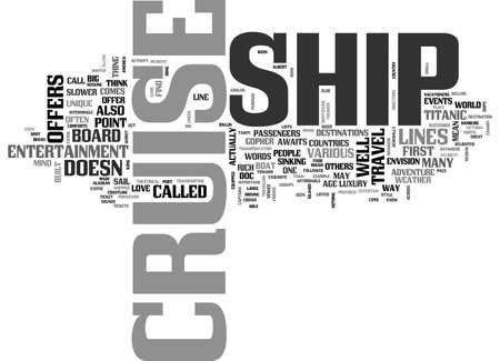 YOUR ADVENTURE AWAITS ON A CRUISE SHIP TEXT WORD CLOUD CONCEPT