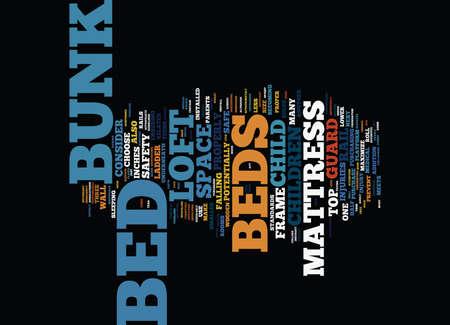 ARE LOFT BEDS BUNK BEDS SAFE Text Background Word Cloud Concept