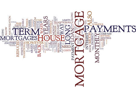 ARE LONG TERM MORTGAGES FOR YOU Text Background Word Cloud Concept