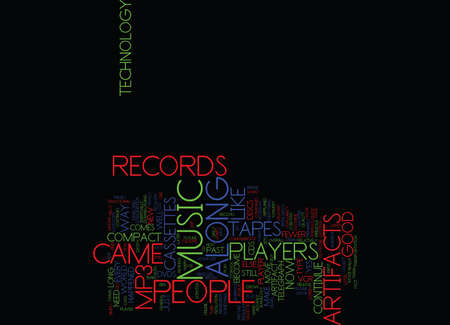 ARE RECORDS Text Background Word Cloud Concept Ilustração