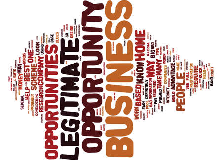 ARE THOSE BIZ OPPORTUNITIES LEGIT Text Background Word Cloud Concept Illustration