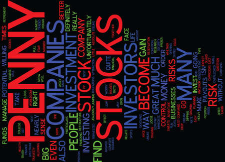 ARE PENNY STOCKS FOR YOU Text Background Word Cloud Concept Illustration