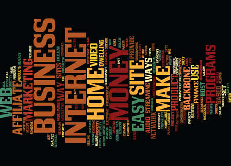 ARE THERE EASY WAYS TO MAKE MONEY Text Background Word Cloud Concept