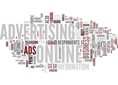ARE ONLINE ADS WORTH THE COST Text Background Word Cloud Concept