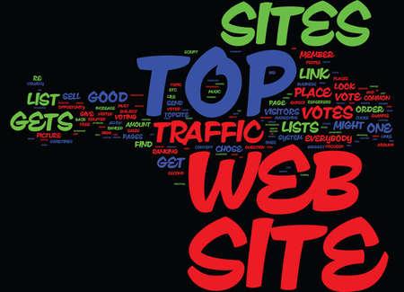 最上位の WEB サイトをみんなテキスト背景単語雲の概念に適しています