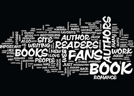 ARE READERS IMPORTANT TO AUTHORS Text Background Word Cloud Concept Ilustrace