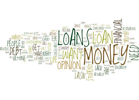 ARE LOANS RIGHT FOR YOU Text Background Word Cloud Concept