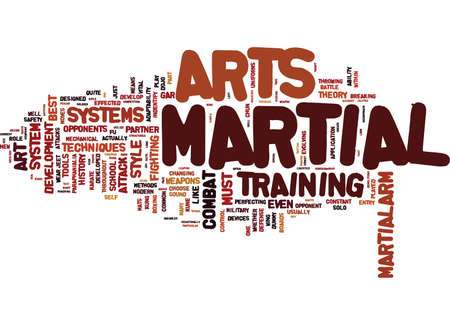 ARE THE MARTIAL ARTS STILL UNDER DEVELOPMENT Text Background Word Cloud Concept