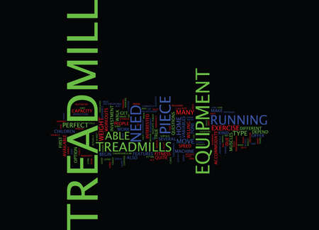 ARE TREADMILLS THE PERFECT PIECE OF EXERCISE EQUIPMENT Text Background Word Cloud Concept