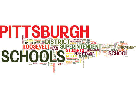 ARE PITTSBURGH SCHOOLS IN TROUBLE Text Background Word Cloud Concept