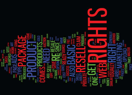 viable: ARE PRODUCT RESELL RIGHTS A VIABLE MONEY MAKER Text Background Word Cloud Concept