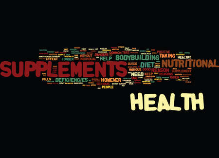 ARE THE HEALTH SUPPLEMENTS SAFE Text Background Word Cloud Concept Illustration