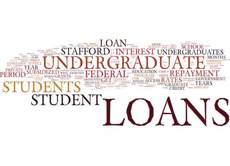 학자금 대출을위한 학생 융자 텍스트 배경 단어 구름 개념 일러스트