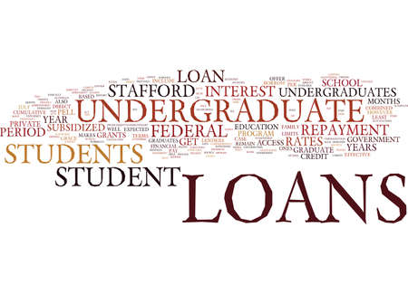 ARE THEIR STUDENT LOANS FOR UNDERGRADUATES Text Background Word Cloud Concept Banco de Imagens - 82568339