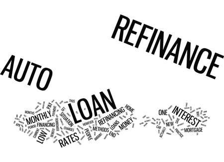 AUTO REFINANCE Text Background Word Cloud Concept