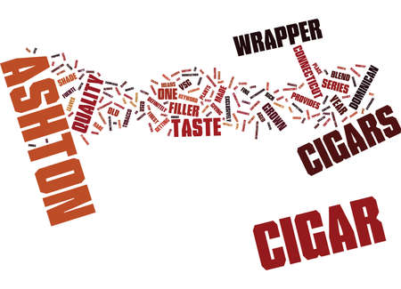 ASHTON CIGARS Text Background Word Cloud Concept