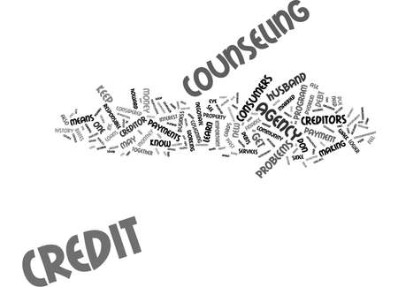 ASK THE CREDIT COUNSELOR Text Background Word Cloud Concept
