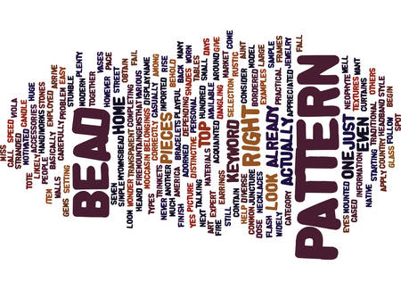 BEAD PATTERNS Text Background Word Cloud Concept
