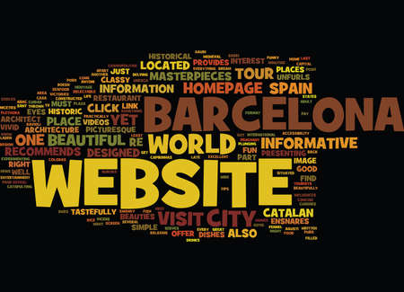 BARCELONA Text Background Word Cloud Concept