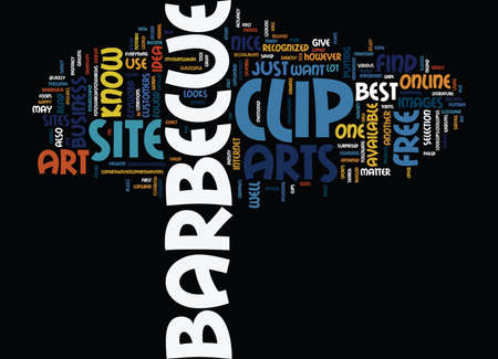 BARBEQUE EQUIPMENT Text Background Word Cloud Concept Illustration