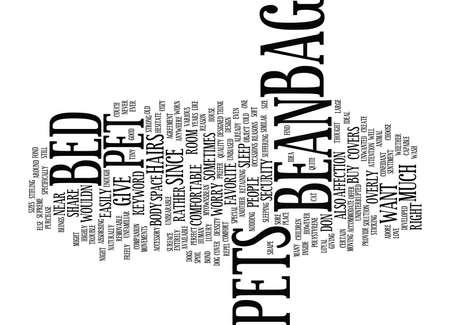BEAN BAG CHAIR BED Text Background Word Cloud Concept Ilustração