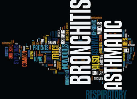 ASMATIC BRONCHITIS Text Background Word Cloud Concept