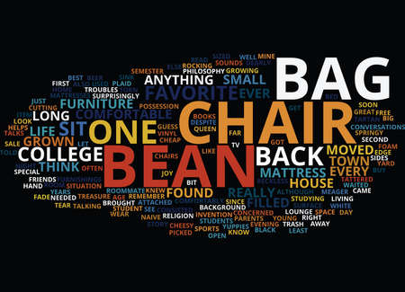 BEAN BAG CHAIRS FOR KIDS Text Background Word Cloud Concept Illustration