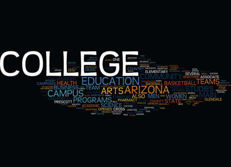 ARIZONA COLLEGE Text Background Word Cloud Concept Иллюстрация