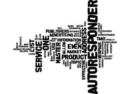 ARTICLES AND AUTORESPONDERS Text Background Word Cloud Concept Illusztráció