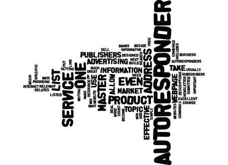 ARTICLES AND AUTORESPONDERS Text Background Word Cloud Concept Illustration