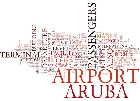 ARUBAS AIRPORT Text Background Word Cloud Concept
