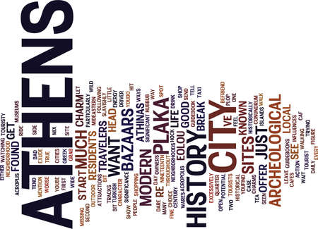 ATHENS A WALK ON THE WILD SIDE Text Background Word Cloud Concept