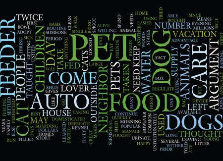 AUTO PET FEEDER Text Background Word Cloud Concept