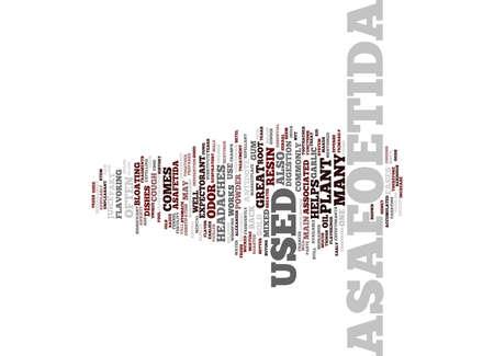 ASAFOETIDA Tekst Achtergrond Word Cloud Concept