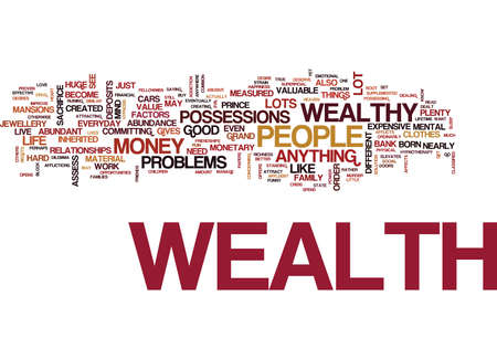 ATTRACT THE WEALTH YOU DESERVE Text Background Word Cloud Concept