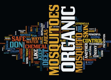 fortunately: ATHOSE NASTY MOSQUITOES Text Background Word Cloud Concept Illustration