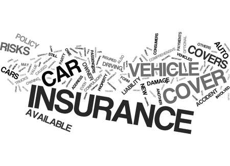 AUTO INSURANCE WHICH TYPE IS RIGHT FOR YOU Text Background Word Cloud Concept Illustration
