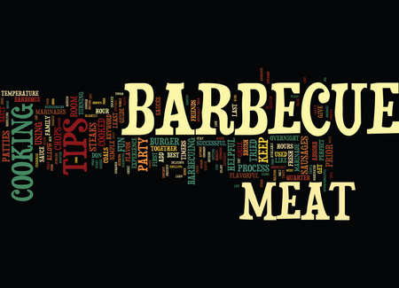 BARBECUES GALORE Text Background Word Cloud Concept Illustration