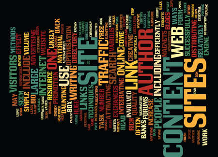 ARTICLE DIRECTORY SITES Text Background Word Cloud Concept