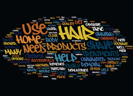 overly: AT HOME HAIR REMOVAL TECHNIQUES TO USE PART ONE Text Background Word Cloud Concept